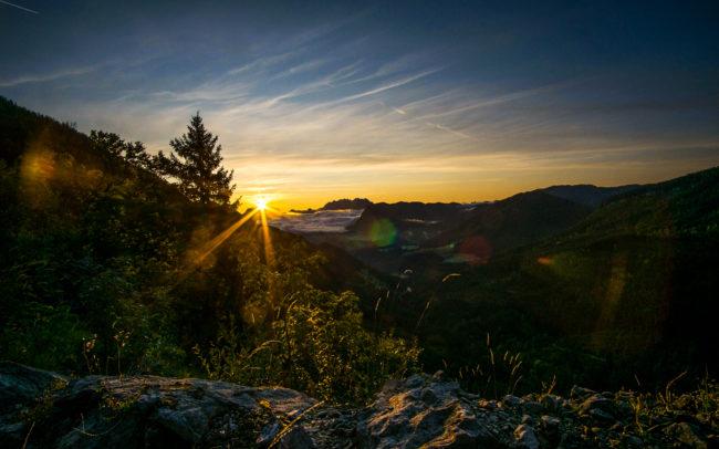 Sonnenaufgang in den Alpen ©Gipfelfieber Studio